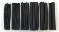 170PCS SINGLE WALL HEAT SHRINK TUBE SET 2:1 BLACK (1PC)