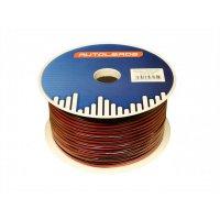 2X 0.75MM² LOUDSPEAKER CABLE. PER ROLL OF 100 METERS RED / BLACK (1PC)