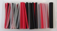 87PCS DUAL WALL HEAT SHRINK TUBE SET 3:1 BLACK, RED & CLEAR (1PC)