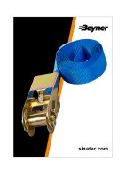 LASHING STRAP BLUE WITH RATCHET 3.5 METERS (1PC)