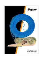 LASHING STRAP BLUE WITH RATCHET 5 METERS (1PC)