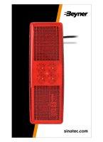 MARKER LAMP 12 / 24V RED 110X40MM LED (1PC)
