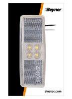 MARKER LAMP 12 / 24V WHITE 110X40MM LED (1PC)