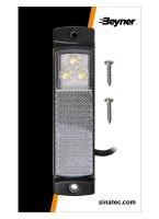MARKER LAMP 12 / 24V WHITE 126X30MM LED (1PC)