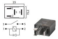 MICRO CONTACT MAKE RELAY 24V 10A WITH DIODE (1PC)