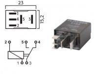 MICRO SWITCH RELAY 24V 5 / 10A (1PC)