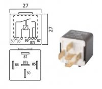 MINI CHANGEOVER RELAY 24V 20 / 30A 5-POLE (1PC)