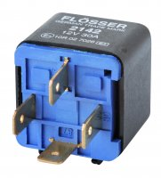 MINI CONTACT MAKE RELAY 12V 30A WITH RESISTOR 4 POLES (1PC)