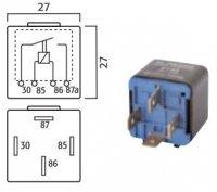 MINI CONTACT MAKE RELAY 12V 40A 4-POLES (1PC)