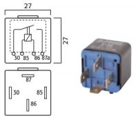 MINI CONTACT MAKE RELAY 24V 20A 4-POLES (1PC)