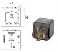 MINI CONTACT MAKE RELAY 24V 30A 5-POLE (1PC)