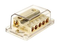 POWER DISTRIBUTION BLOCK (GOLD) 2X35-50 MM² IN / 5X20 MM OUT (1PC)