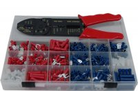 PVC PRE-INSUL TERMINALS + MULTI-TOOL 500 PCS (1PC)