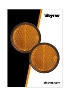 REFLECTOR ORANGE 58MM SELF-ADHESIVE WITH BASE PLATE (2PC)