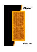 REFLECTOR ORANGE 82X36MM SELF ADHESIVE (2PC)