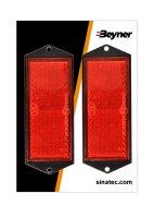 REFLECTOR RED 104X40MM SCREW FASTENING (2PC)