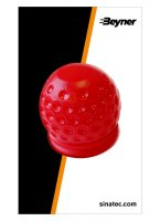TOW HOOK CAP GOLFBALL RED (1PC)
