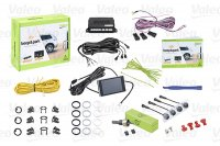 VALEO BEEP & PARK KIT 2 4 SENSORS + 1 LCD DISPLAY MOUNTING FRONT OR REAR BUMPER (1PC)