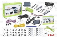 VALEO BEEP & PARK KIT 3 8 SENSORS + 1 LCD DISPLAY MOUNTING FRONT AND REAR BUMPER (1PC)